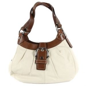Coach Leather Soho Lynn Slouchy Hobo Bag White